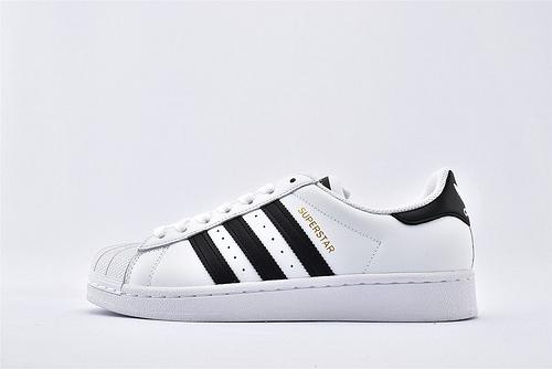 Adidas 三叶草 Superstar 贝壳头系列/黑白金标 经典款 天猫专用礼盒加持  货号:C77124  男女鞋  情侣款