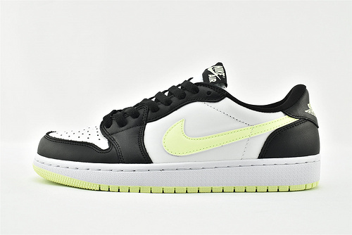 Air Jordan 1 AJ1 Low 乔丹1代低帮篮球鞋/黑白荧光绿  货号:CZ0790-103  男女鞋  情侣款