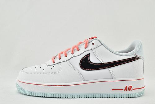 Nike Air Force 1 空军一号/低帮 白黑绿薄荷   货号:DD7709-100   女鞋