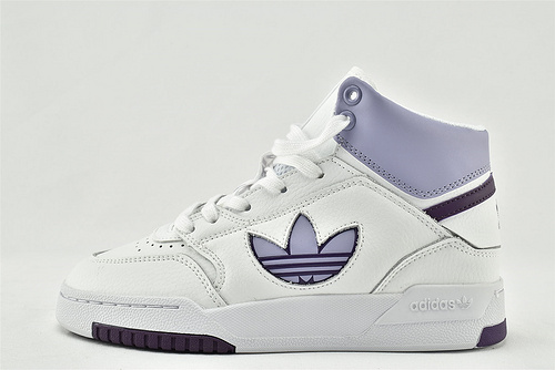 Adidas 三叶草 2020款 秋冬 高帮板鞋/白紫  货号:FW2031   女鞋