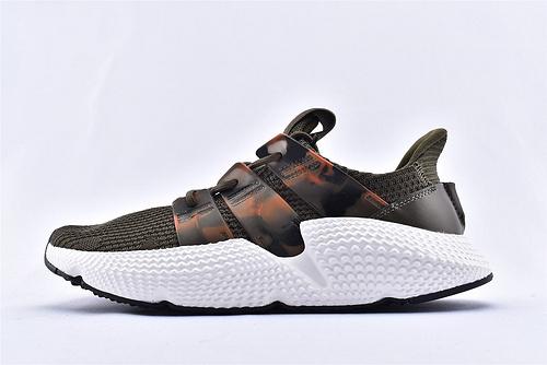 Adidas Prophere 复古跑鞋/刺猬 绿迷彩  货号:EE4736   男女鞋  情侣款