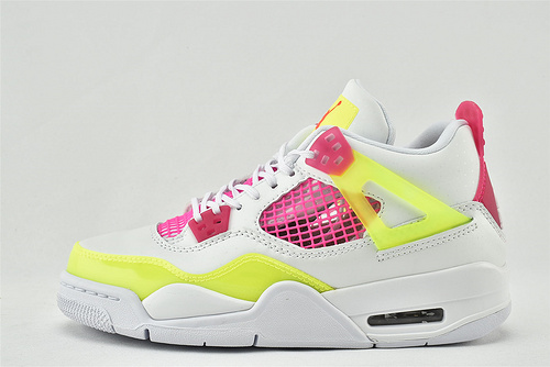 Air Jordan 4 AJ4 乔丹4代篮球鞋/糖果 柠檬 女神黄粉白   货号:CV7808-100  男女鞋  情侣款