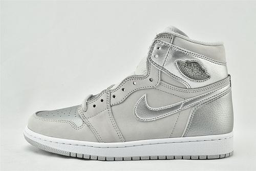 Air Jordan 1 AJ1 AJ1 乔丹1代高帮篮球鞋/日本限定 灰银  【金属盒】  货号:DC1788-029  男女鞋  情侣款