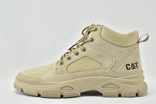 卡特/CAT 2020秋冬新款 美版高帮休闲皮靴/灰色 咖色  全头层  男鞋
