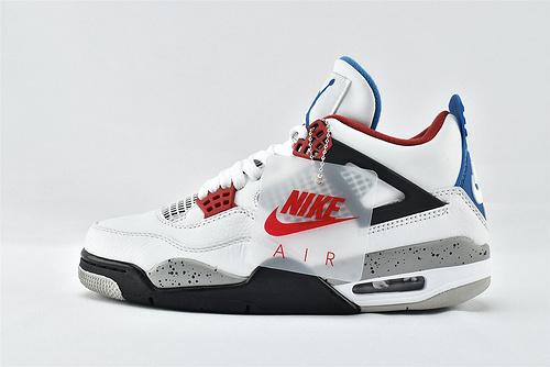 Air Jordan 4 AJ4 乔丹4代篮球鞋/鸳鸯 白红  30周年款  货号:CI1184-146   男鞋