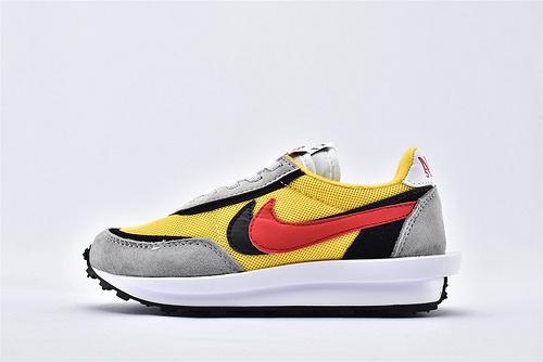 Sacai x Nike LVD Waffle Daybreak 联名走秀款解构高端跑鞋/新华夫童鞋 【灰黄黑红】 原装版  货号:BV0073-005  童鞋