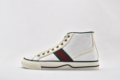 Gucci/古驰 Gucci 鼠年限定款 2020最新发售 经典帆布高帮板鞋/白红绿 经典配色  男女鞋