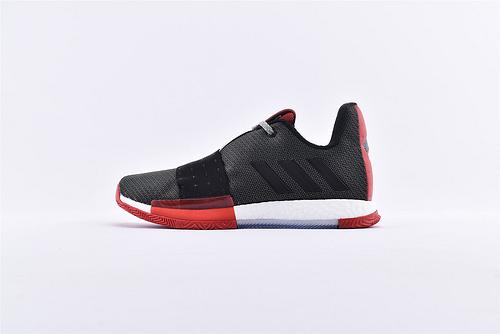 Adidas Harden Vol. 3 Boost 哈登3代爆米花篮球鞋/黑红 缓震效果显著 实战无忧 高端篮球鞋  货号:G54768  男鞋