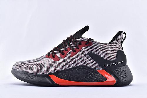 Adidas AlphaBounce Beyond M 阿尔法4.0缓震跑鞋/黑红  货号:CG5597  男鞋