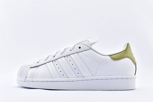 Adidas 三叶草 Superstar 贝壳头板鞋/2020新款 城市限定系列 白橙 绿尾  货号:FW2857  男女鞋  情侣款