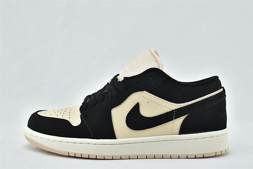Air Jordan 1 AJ1 Low AJ1 乔丹1代低帮篮球鞋/黑奶茶  货号:BC0774-003  男女鞋   情侣款