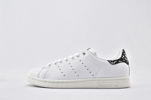 Adidas 三叶草 Stan Smith 史密斯板鞋/全白 黑斑点尾 经典 头层牛皮 原盒原标  货号:BZ0408  女鞋