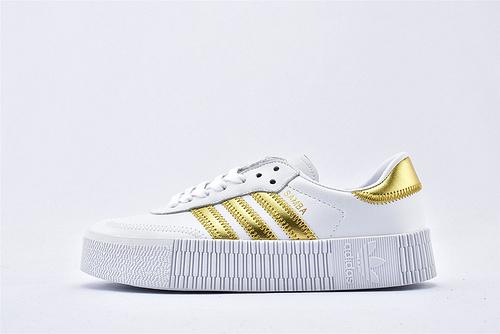 Adidas 三叶草 AMBAROSE W 女子经典厚底板鞋/白金  货号:EE4681  女鞋