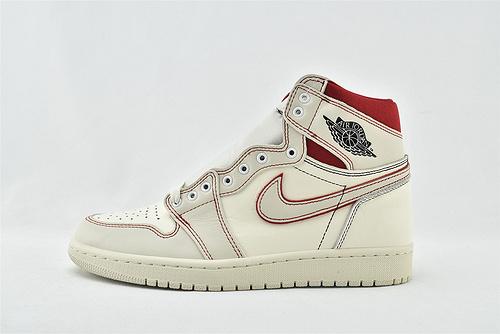 Air Jordan 1 AJ1 乔丹1代高帮篮球鞋/白红 手稿 兔八哥  货号:555088-160  男女鞋 情侣款