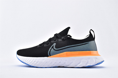 Nike REACT INFINITY FK 瑞亚3.0跑鞋/黑蓝黄  货号:CD4371-007  男女鞋  情侣款