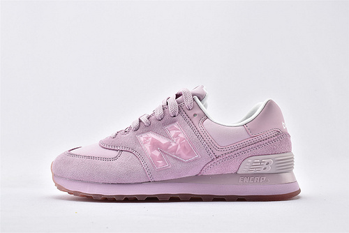New Balance 新百伦WL574WNU 复古跑鞋/粉色 水晶logo 进口翻毛皮 原标原盒  女鞋