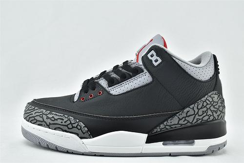 Air Jordan 3 AJ3 乔丹3代篮球鞋/黑水泥 爆裂纹  货号: 854262-001   男女鞋  情侣款
