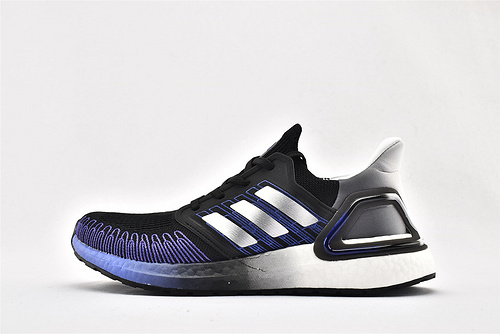 Adidas ULTRA BOOST UB 20 米花缓震跑鞋/黑白紫渐变  货号:FV0033  女鞋