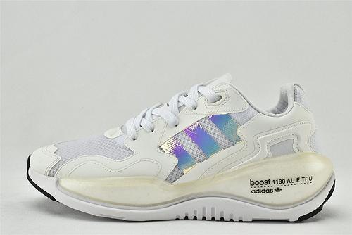 Adidas 三叶草 ZXALKYNEBoost 2020新款爆米花跑鞋/白镭射 【180款】 原装版  货号:FY3026   女鞋