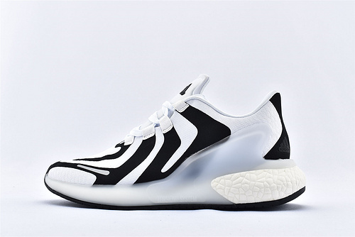 Adidas Alphabounce beyond M 阿尔法缓震跑鞋/黑白 斑马纹 爆米花 原标原盒 货号:CG3811   男鞋