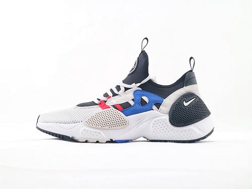 Nike HUARACHE E.D.G.E TXT QS 华莱士系列跑鞋/黑白蓝 机能网面跑鞋  货号:AO1697 001  男女鞋  情侣款