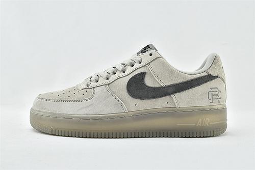 Nike Air Force 1 Low AF1空军一号/低帮 麂皮灰 冠军联名  货号:AA1117-118  男女鞋  情侣款