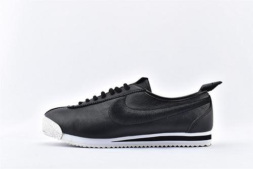 Nike Cortez '72 阿甘系列/科特斯 黑白刺绣 头层软皮版 原盒原标  货号:881205-001 男女鞋  情侣款