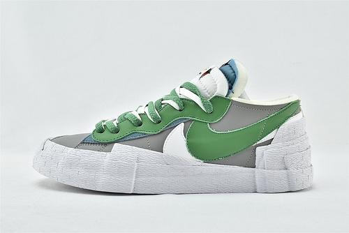 Sacai X Nike Blazer Low 开拓者低帮板鞋/联名解构 灰绿   货号:DD1877-001   男女鞋  情侣款
