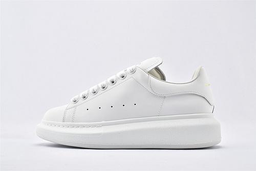 Alexander McQueen/亚历山大麦昆 松糕鞋厚底增高小白鞋/全白 纯白  芯片 扫码 版  男女鞋  情侣款