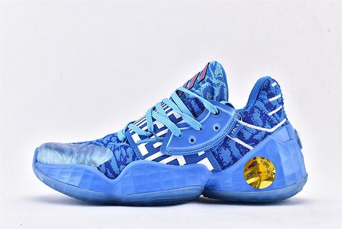 Adidas Harden Vol4.0 哈登4.0篮球鞋/天空蓝 字母  纯原版  货号:EG2582  男鞋