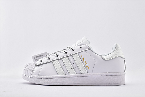 Adidas 三叶草 Superstar 贝壳头板鞋/全白   货号:FV3392  男女鞋  情侣款