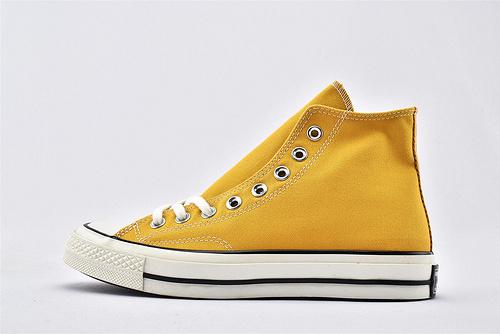 CONVERSE/匡威 1970S 三星黑标高帮滑板鞋/黄 过验版  货号:162054C  男女鞋 情侣款