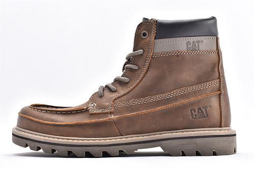 卡特/CAT 美版19款高帮户外工装靴/复古深咖 自然做旧效果【 硬汉】耐磨防滑大底 手工内外上线 耐穿十年  男鞋