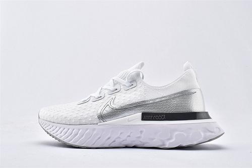 Nike 2020年新款 REACT INFINITY RUN 瑞亚3.0跑鞋/白银  货号:CD4372-101  男女鞋  情侣款