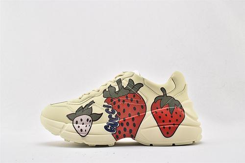 Gucci/古驰 做旧复古老爹鞋/草莓    芯片 版  女鞋