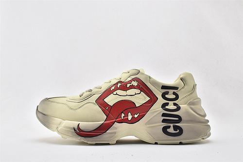 Gucci/古驰 做旧复古老爹鞋/经典 红唇