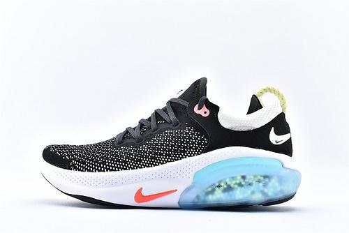 Nike Joyride Run FK飞线震颗粒跑步鞋/黑白 蓝尾  货号:AQ2730-007  男女鞋 情侣款