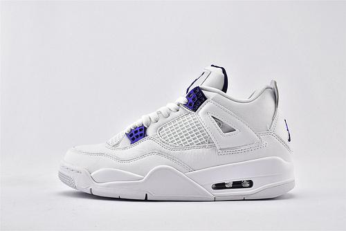 Air Jordan 4 AJ4 Rasta乔丹4代篮球鞋/白紫 紫葡萄  纯原版  货号:CT8527-115  男鞋