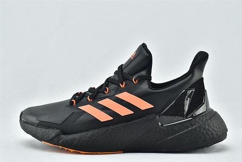 Adidas  X9000L4 Boost 爆米花缓震跑鞋/黑橘  货号:FW5920   男鞋