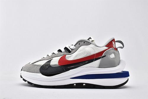 Sacai x Nike LVD Waffle Daybreak 联名走秀款解构高端跑鞋/新华夫 灰白黑红 网面透气 2020最新款  货号:BV0073-304  男女鞋  情侣款