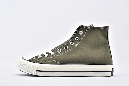 CONVERSE/匡威 1970S 三星黑标高帮滑板鞋/草绿  货号:162052C  过验版  男女鞋  情侣款