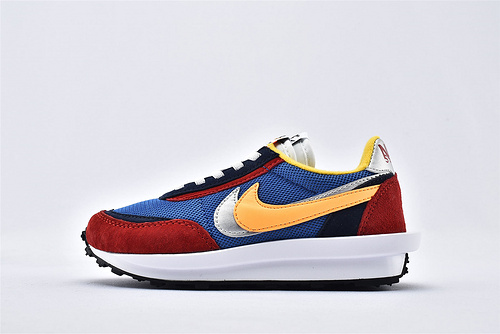 Sacai x Nike LVD Waffle Daybreak 联名走秀款解构高端跑鞋/新华夫童鞋 【黄蓝红】原装版  货号:BV0073-400  童鞋