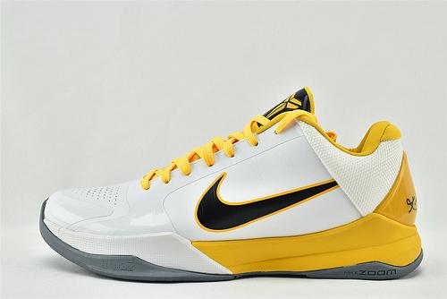 Nike Kobe 5 Lakers 科比5代 低帮篮球鞋/湖人主场 白黄  灭世版  尺码:386430-104  男鞋