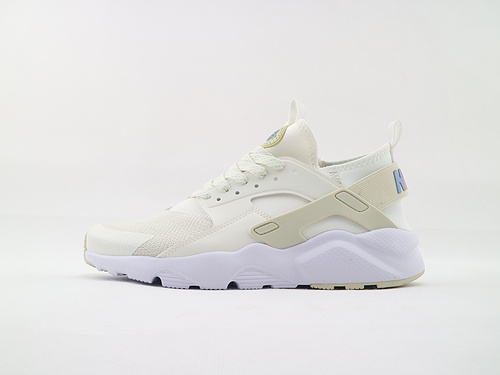 Nike Air Huarache Run Ultra 华莱士4.0系列跑鞋/乳白 彩虹尾  货号:942122 100  男女鞋  情侣款
