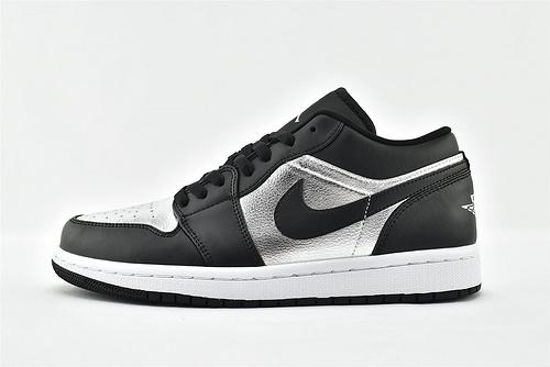Air Jordan 1 AJ1乔丹1代低帮篮球鞋系列/黒银脚趾  货号:DA5551-001     男女鞋  情侣跨