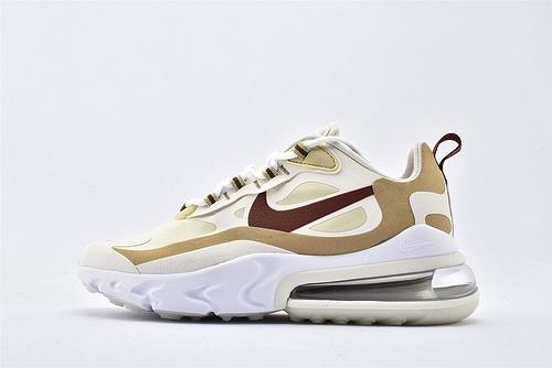 "Nike Air Max 270 React ""BAUHAUS"" 半掌小气垫气垫跑鞋/浅麦酒红 泡棉  芯片版  货号:AT6174-700  女鞋"