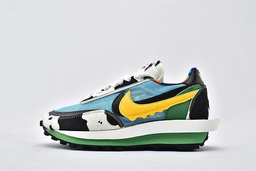 Sacai x Nike LVD Waffle Daybreak 联名走秀款解构高端跑鞋/网纱透明 牛奶冰淇淋 华夫款  货号:CN8899-006  男女鞋 情侣款