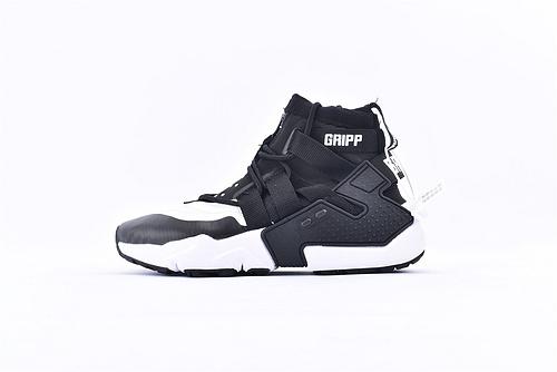 Nike Air Huarache Gripp华莱士高帮跑鞋/黑白高  货号:AO1730-005  男女鞋  情侣款