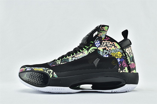 Air Jordan XXXIVPF 34 AJ34 乔丹34代篮球鞋/郭艾伦 镂空 黑彩  货号:BQ3381-004   男鞋