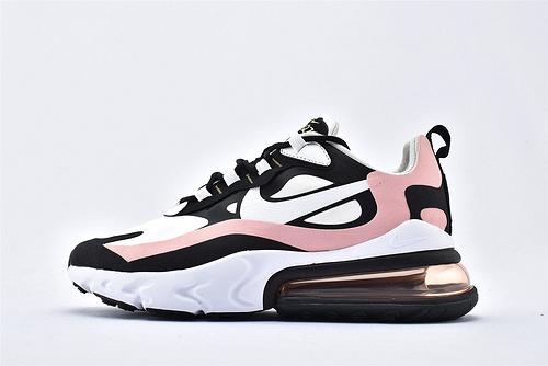 "Nike Air Max 270 React ""BAUHAUS"" 半掌小气垫气垫跑鞋/黑白粉色 泡棉  芯片版 货号:AT6174-005  女鞋"